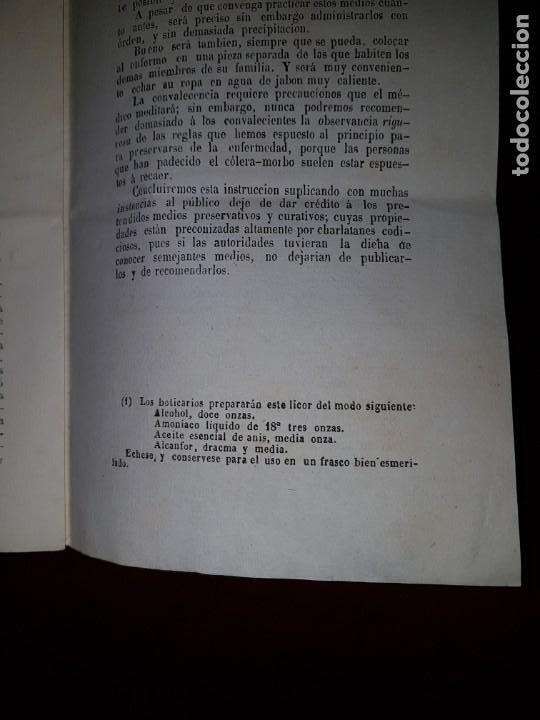 Libros antiguos: Instrucción del primer tratamiento curativo del cólera-morbo, 1851 - Foto 3 - 205858377