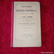 Libros antiguos: LECCIONES DE HIGIENE INDIVIDUAL. Lote 206825632