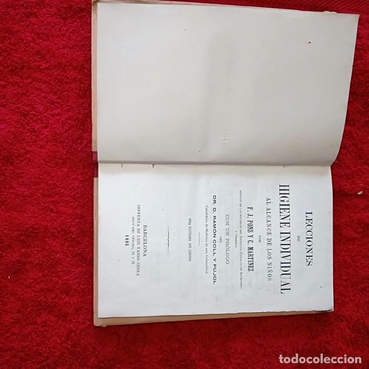 Libros antiguos: LECCIONES DE HIGIENE INDIVIDUAL - Foto 2 - 206825632