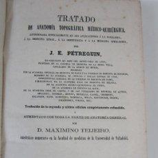 Libros antiguos: TRATADO DE ANATOMÍA TOPOGRÁFICA MEDICO-QUIRÚRGICA - J.E. PÉTREQUIN - MADRID 1868. Lote 208213227