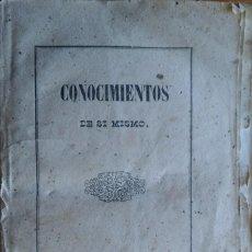 Libros antiguos: CONOCIMIENTOS DE SÍ MISMO. BARCELONA, 1851. Lote 208272915