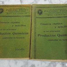 Libros antiguos: ENSAYOS CLÍNICOS Y SENCILLOS DE LOS PRINCIPALES PRODUCTOS QUÍMICOS EMPLEADOS EN FARMACIA 1901. Lote 208297408
