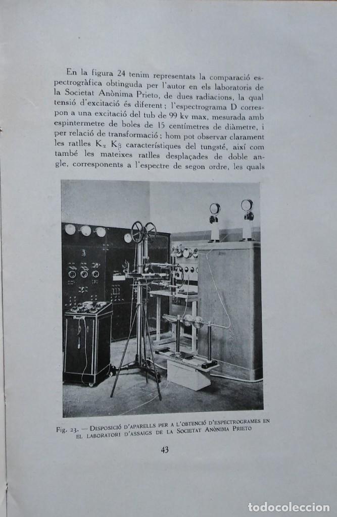 Libros antiguos: Generació i naturalesa dels raigs Roetgen, Albert Mosella. Barcelona, 1934 - Foto 2 - 208395175