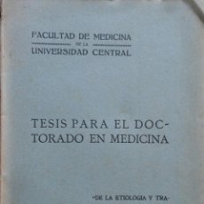Libros antiguos: DE LA ETIOLOGÍA Y TRATAMIENTO DE LA PELADA. JOSÉ ORIOL PUIG Y FONT. 1904. DEDICADO. Lote 208395972