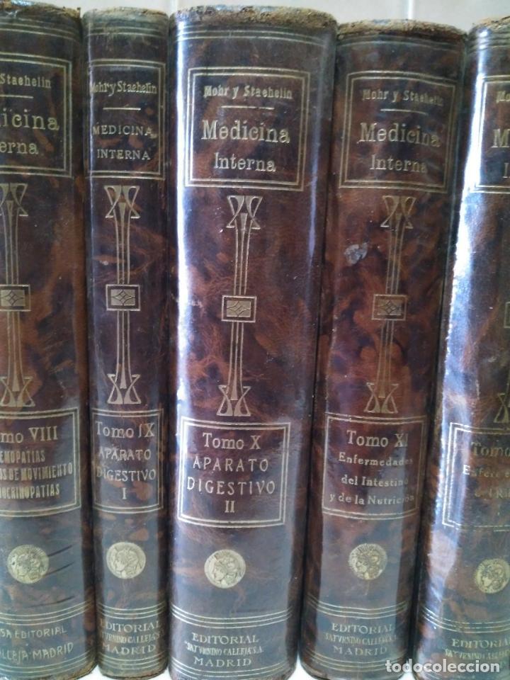 Libros antiguos: TRATADO DE MEDICINA INTERNA - L.MOHR Y R.STAEHELIN - 15 TOMOS,OBRA COMPLETA - ED. SATURNINO CALLEJA - Foto 6 - 208859150