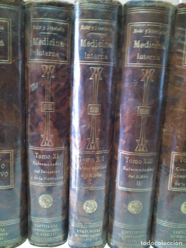 Libros antiguos: TRATADO DE MEDICINA INTERNA - L.MOHR Y R.STAEHELIN - 15 TOMOS,OBRA COMPLETA - ED. SATURNINO CALLEJA - Foto 7 - 208859150