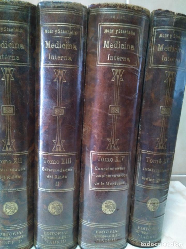 Libros antiguos: TRATADO DE MEDICINA INTERNA - L.MOHR Y R.STAEHELIN - 15 TOMOS,OBRA COMPLETA - ED. SATURNINO CALLEJA - Foto 8 - 208859150