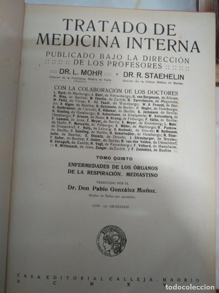 Libros antiguos: TRATADO DE MEDICINA INTERNA - L.MOHR Y R.STAEHELIN - 15 TOMOS,OBRA COMPLETA - ED. SATURNINO CALLEJA - Foto 16 - 208859150