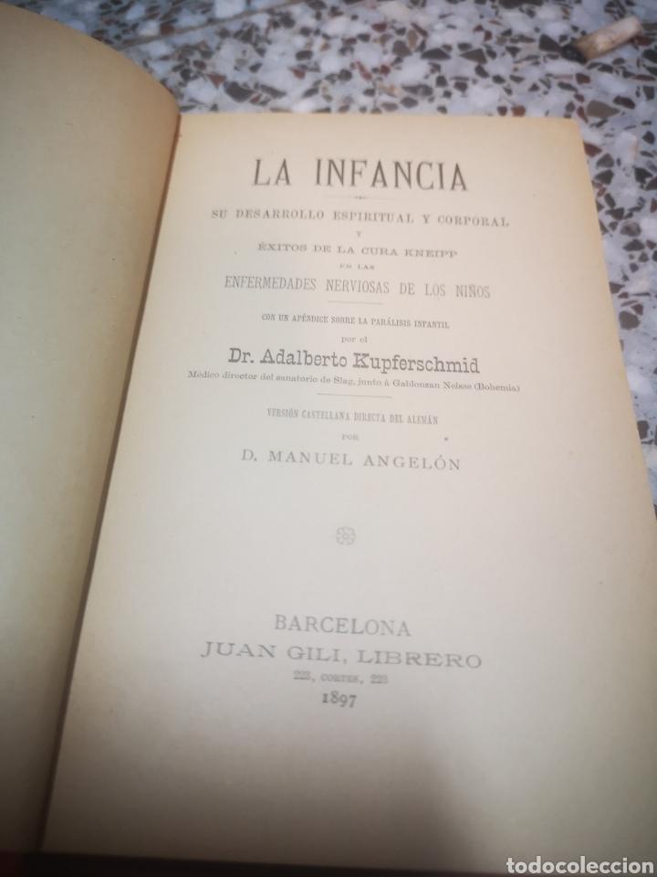 Libros antiguos: La infancia su desarrollo espiritual y corporal año 1897 Adalberto kupferschmid - Foto 2 - 208929895