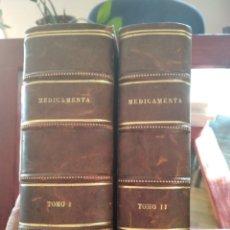 Libros antiguos: MEDICAMENTA-GUIA TEORICO-PRACTICA PARA FARMACEUTICOS...-LABOR-2 TOMOS-1936-MUY BIEN. Lote 209917485