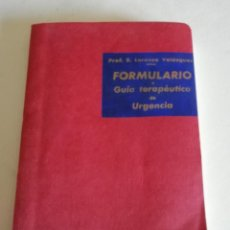 Libros antiguos: LIBRO MÉDICO: GUIA TERAPÉUTICA DE URGENCIA. Lote 210591091