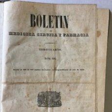 Libros antiguos: BOLETÍN DE MEDICINA, CIRUGÍA Y FARMACIA. - [REVISTA.]. Lote 114799656