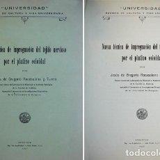 Libros antiguos: GREGORIO ROCASOLANO. NUEVA TÉCNICA DE IMPREGNACIÓN DEL TEJIDO NERVIOSO POR EL PLATINO COLOIDAL. 1927. Lote 210748240