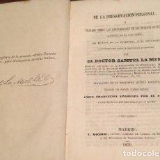 Libros antiguos: TRATADO SOBRE LAS ENFERMEDADES DE ORGANOS GENITALES.1850. DOCTOR SAMUEL LA MERT.1ª EDICION FIRMADA. Lote 210787957