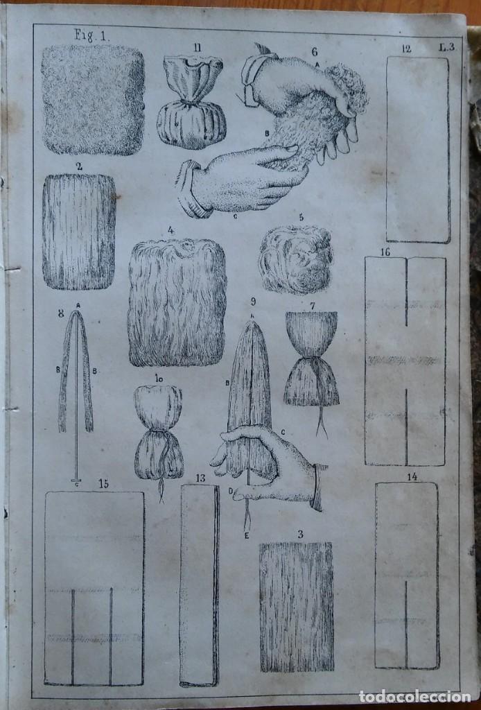 Libros antiguos: Instrucción del practicante. Madrid, 1863. 9 bonitas láminas litografiadas - Foto 6 - 211510994