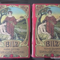 Libros antiguos: COLECCIÓN LIBROS BILZ - NUEVO SISTEMA DE CURACIÓN NATURAL - 2 TOMOS - C. 1900 (MEDICINA). Lote 211582285