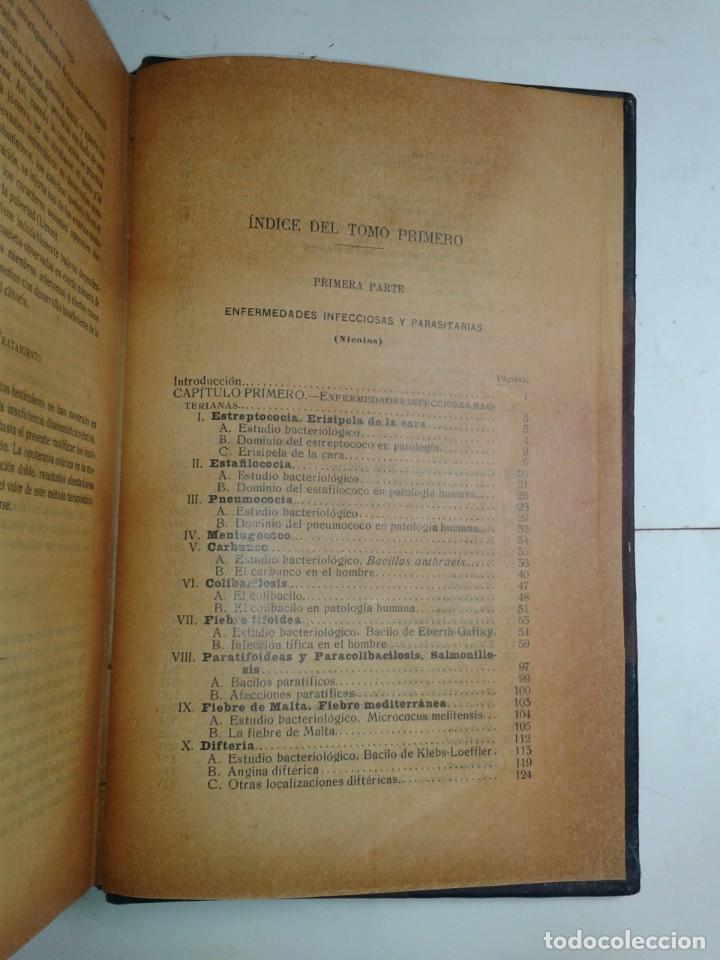 Libros antiguos: MANUAL DE PATOLOGÍA INTERNA TOMO I ENFERMEDADES INFECCIOSAS INTOXICACIONES 1915 BALTHAZARD - Foto 3 - 211596365