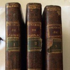 Libros antiguos: DICCIONARIO ELEMENTAL D FARMACIA, BOTANICA Y MATERIA MEDICA-3VOL MANUEL HERNANDEZ DE GREGORIO 1803. Lote 212286192