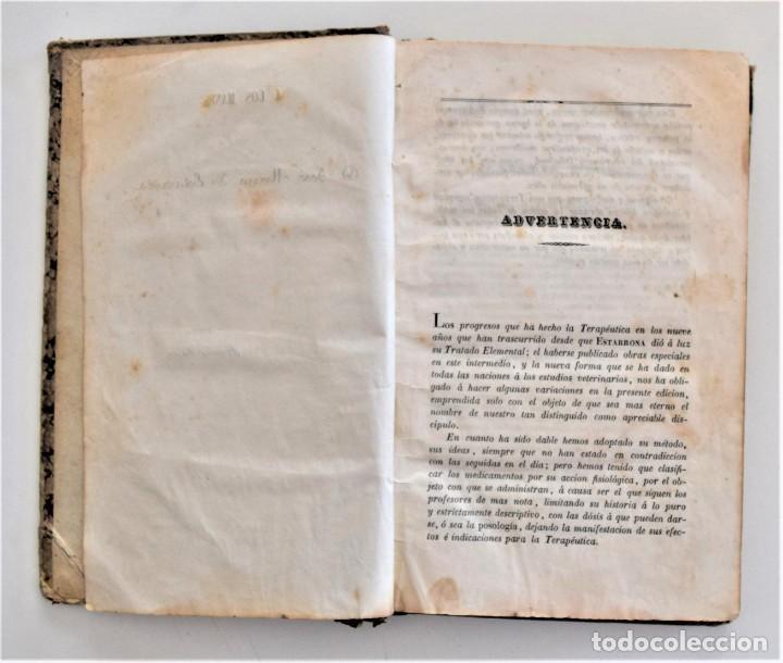 Libros antiguos: TRATADO ELEMENTAL MATERIA MÉDICA O FARMACOLOGÍA, TERAPÉUTICA VETERINARIA, JOSÉ MARÍA ESTARRONA 1850 - Foto 5 - 212300847