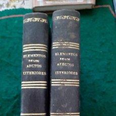 Libros antiguos: ELEMENTOS DE AFECTOS INTERNOS 2 TOMOS 1844. Lote 212376780