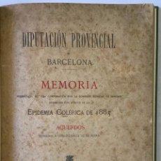 Libros antiguos: MEMORIA PRESENTADA... CON MOTIVO DE LA EPIDEMIA COLÉRICA DE 1885 Y ACUERDOS TOMADOS Á CONSECUENCIA D. Lote 123265359