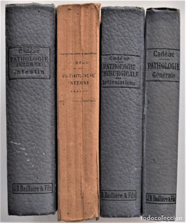 LOTE 4 TOMOS ENCICLOPEDIA CADÉAC DE VETERINARIA EDICIÓN FRANCESA AÑOS 1904 A 1914 (Libros Antiguos, Raros y Curiosos - Ciencias, Manuales y Oficios - Medicina, Farmacia y Salud)