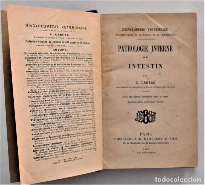 Libros antiguos: LOTE 4 TOMOS ENCICLOPEDIA CADÉAC DE VETERINARIA EDICIÓN FRANCESA AÑOS 1904 A 1914 - Foto 4 - 213962628