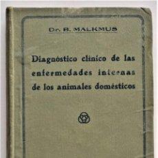 Libros antiguos: DIAGNÓSTICO CLÍNICO ENFERMEDADES INTERNAS ANIMALES DOMÉSTICOS - MALKMUS - VETERINARIA - AÑO 1924. Lote 214069951