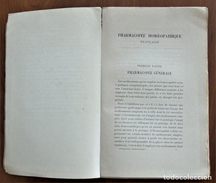 Libros antiguos: PHARMACOPÉE HOMOEOPATHIQUE FRANCAISE - H. ECALLE - EN FRANCÉS - HOMEOPATÍA - PARIS 1898 - Foto 5 - 214429670