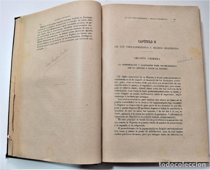 Libros antiguos: TRATADO ELEMENTAL DE HIGIENE COMPARADA DEL HOMBRE Y LOS ANIMALES DOMÉSTICOS, DÍAZ VILLAR 1911 Y 1915 - Foto 4 - 214990480