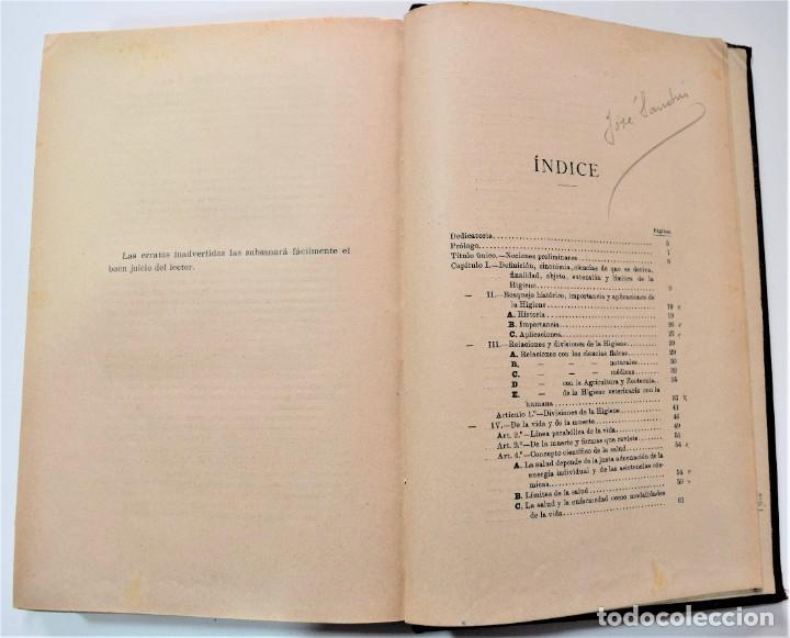Libros antiguos: TRATADO ELEMENTAL DE HIGIENE COMPARADA DEL HOMBRE Y LOS ANIMALES DOMÉSTICOS, DÍAZ VILLAR 1911 Y 1915 - Foto 6 - 214990480