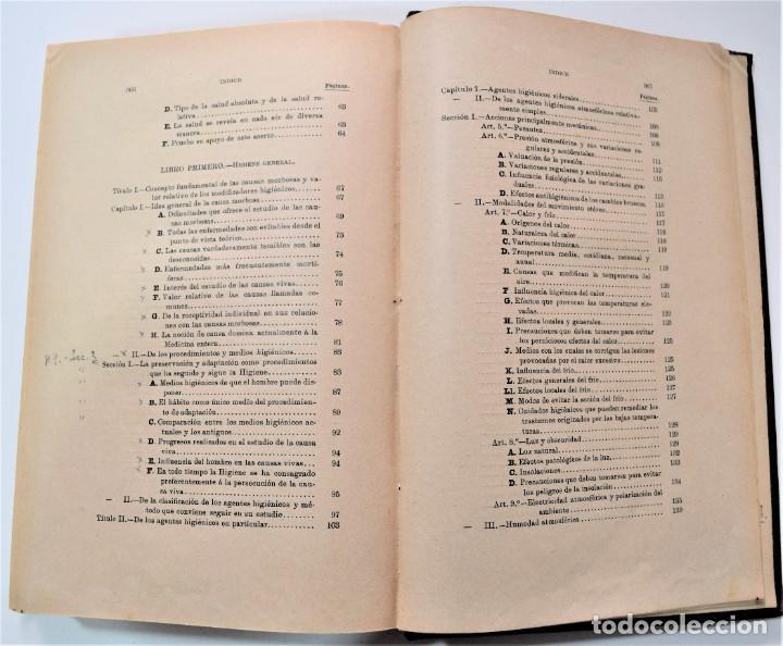 Libros antiguos: TRATADO ELEMENTAL DE HIGIENE COMPARADA DEL HOMBRE Y LOS ANIMALES DOMÉSTICOS, DÍAZ VILLAR 1911 Y 1915 - Foto 7 - 214990480