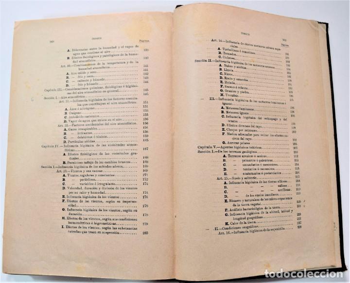 Libros antiguos: TRATADO ELEMENTAL DE HIGIENE COMPARADA DEL HOMBRE Y LOS ANIMALES DOMÉSTICOS, DÍAZ VILLAR 1911 Y 1915 - Foto 8 - 214990480