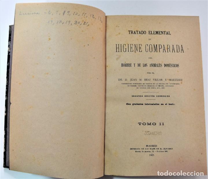 Libros antiguos: TRATADO ELEMENTAL DE HIGIENE COMPARADA DEL HOMBRE Y LOS ANIMALES DOMÉSTICOS, DÍAZ VILLAR 1911 Y 1915 - Foto 11 - 214990480