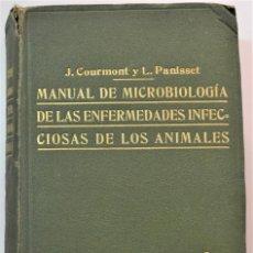 Libros antiguos: MANUAL DE MICROBIOLOGÍA DE LAS ENFERMEDADES INFECCIOSAS DE LOS ANIMALES - COURMONT Y PANISSET 1917. Lote 214991833