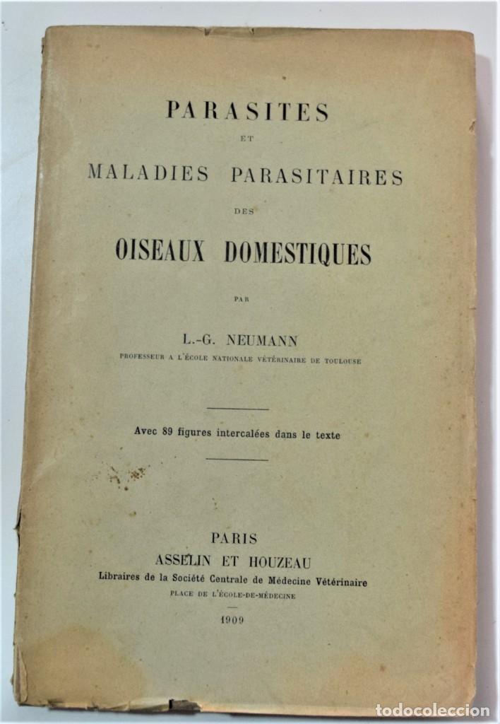 PARÁSITOS Y ENFERMEDADES PARASITARIAS DE LOS ANIMALES DOMÉTICOS - NEUMANN - EN FRANCÉS - PARÍS 1909 (Libros Antiguos, Raros y Curiosos - Ciencias, Manuales y Oficios - Medicina, Farmacia y Salud)