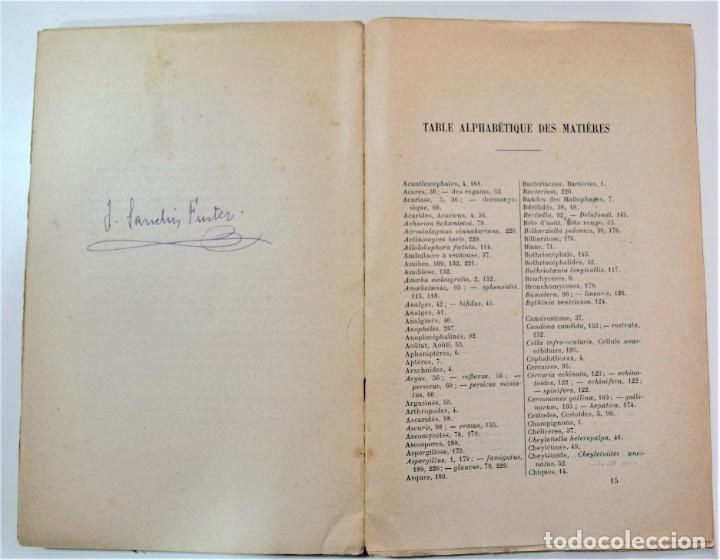 Libros antiguos: PARÁSITOS Y ENFERMEDADES PARASITARIAS DE LOS ANIMALES DOMÉTICOS - NEUMANN - EN FRANCÉS - PARÍS 1909 - Foto 6 - 214992925