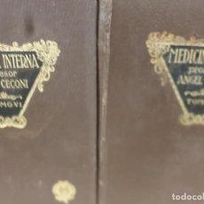 Libros antiguos: MEDICINA.....MEDICINA INTERNA....TOMOS II Y VI.....1933-1934.... Lote 215742148