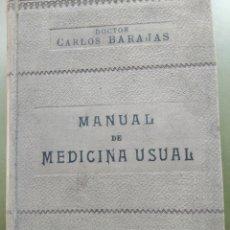 Libros antiguos: MANUAL DE MEDICINA USUAL. Lote 215958532