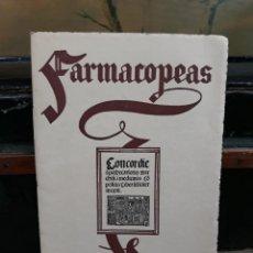 Libros antiguos: FARMACOPEAS. REPRODUCCION DE PORTADAS ANTIGUAS. 1956. LABORATORIOS DEL NORTE ESPAÑA.. Lote 216418487