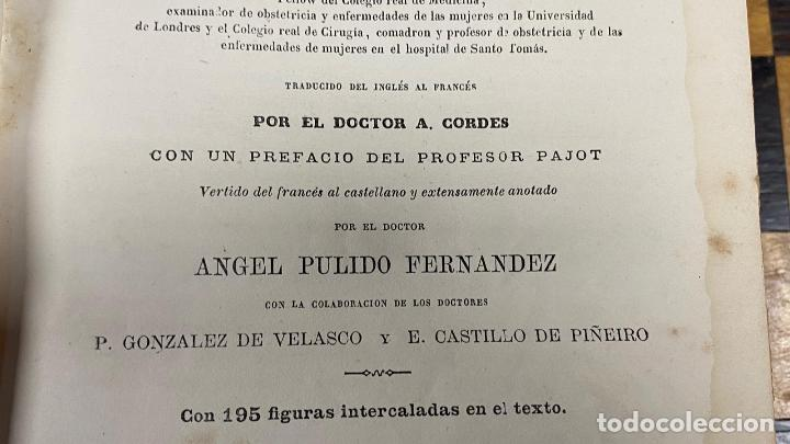Libros antiguos: Tratado Clinico de las Enfermedades de las Mujeres Roberto Barnes 1.879 - Foto 5 - 220985586