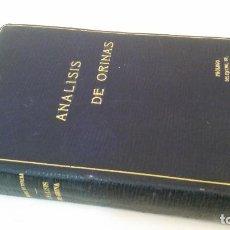 Libros antiguos: 1915 - SÁNCHEZ DE RIVERA Y MOSET - ANÁLISIS DE ORINAS. CON UN APÉNDICE DE ANÁLISIS DE HECES, ETC.. Lote 221545250