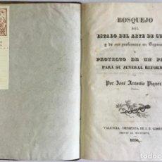 Libros antiguos: BOSQUEJO DEL ESTADO DEL ARTE DE CURAR Y DE SUS PROFESORES EN ESPAÑA Y PROYECTO DE UN PLAN PARA SU JE. Lote 123231196