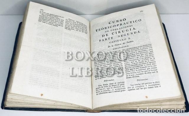 Libros antiguos: VELASCO, Diego / VILLAVERDE,Francisco. Curso teòrico-práctico de operaciones de cirugía. 1807 - Foto 2 - 222070000