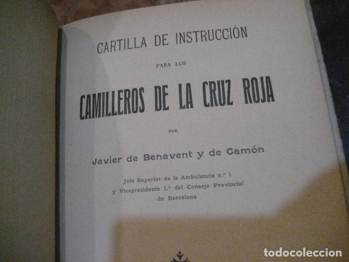 Libros antiguos: Cartilla de instruccion para los camilleros de la cruz roja . 1916 javier de benavent . barcelona - Foto 3 - 222268112