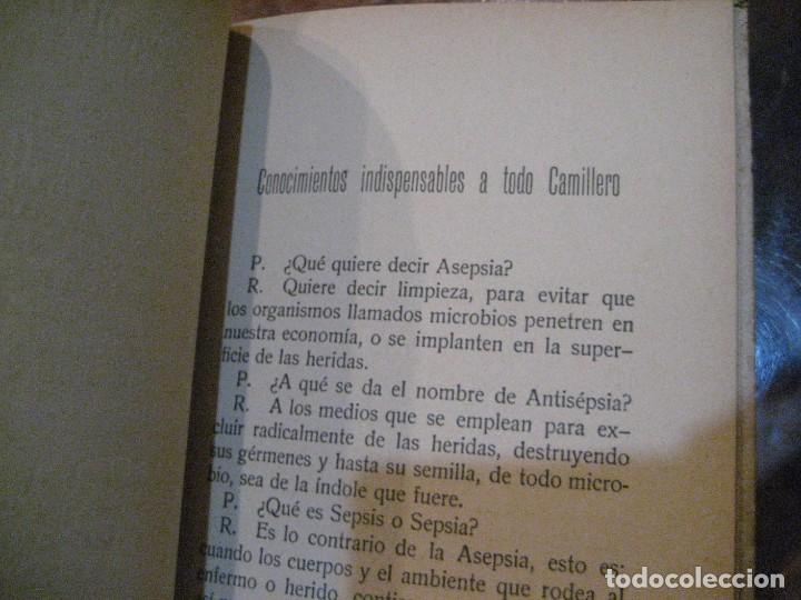 Libros antiguos: Cartilla de instruccion para los camilleros de la cruz roja . 1916 javier de benavent . barcelona - Foto 6 - 222268112