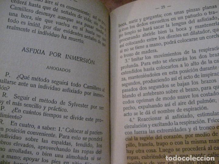 Libros antiguos: Cartilla de instruccion para los camilleros de la cruz roja . 1916 javier de benavent . barcelona - Foto 7 - 222268112