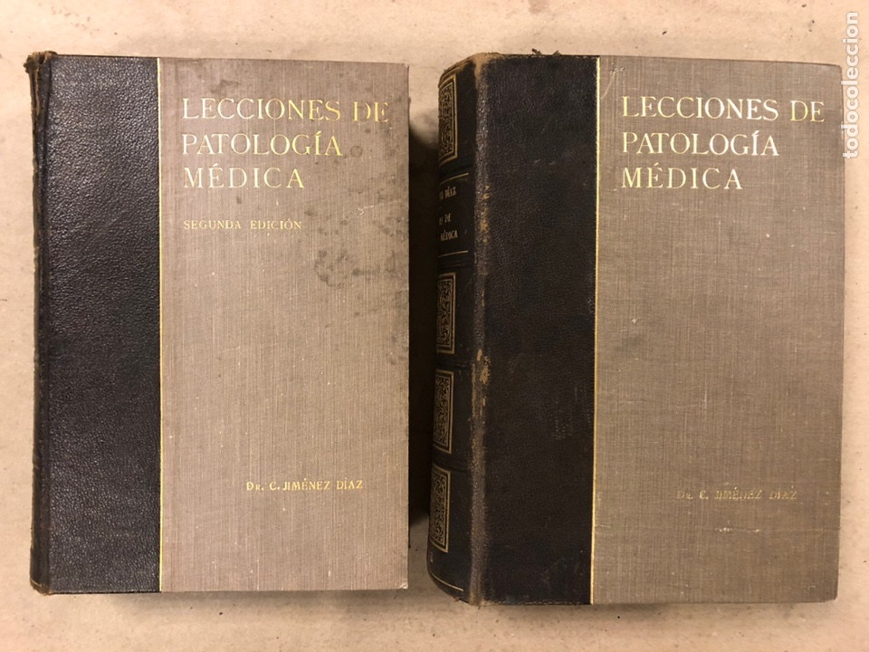 LECCIONES DE PATOLOGÍA MÉDICA. DR. C. JIMÉNEZ DIAZ. 2 TOMOS. EDITORIAL CIENTÍFICO MÉDICA 1936. (Libros Antiguos, Raros y Curiosos - Ciencias, Manuales y Oficios - Medicina, Farmacia y Salud)
