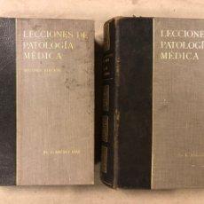 Libros antiguos: LECCIONES DE PATOLOGÍA MÉDICA. DR. C. JIMÉNEZ DIAZ. 2 TOMOS. EDITORIAL CIENTÍFICO MÉDICA 1936.. Lote 224159428