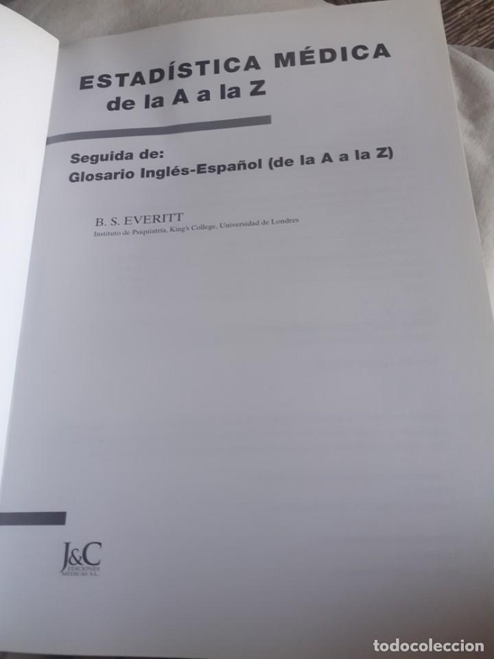 Libros antiguos: Libro Estadística médica de la A a la Z. Everitt, libros técnicos - Foto 2 - 225204031
